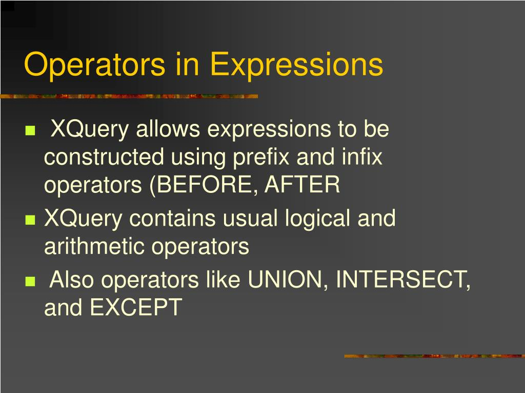 Operators in Expressions