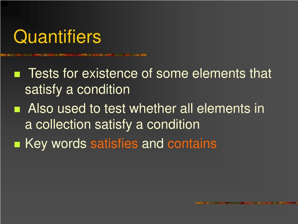 Quantifiers