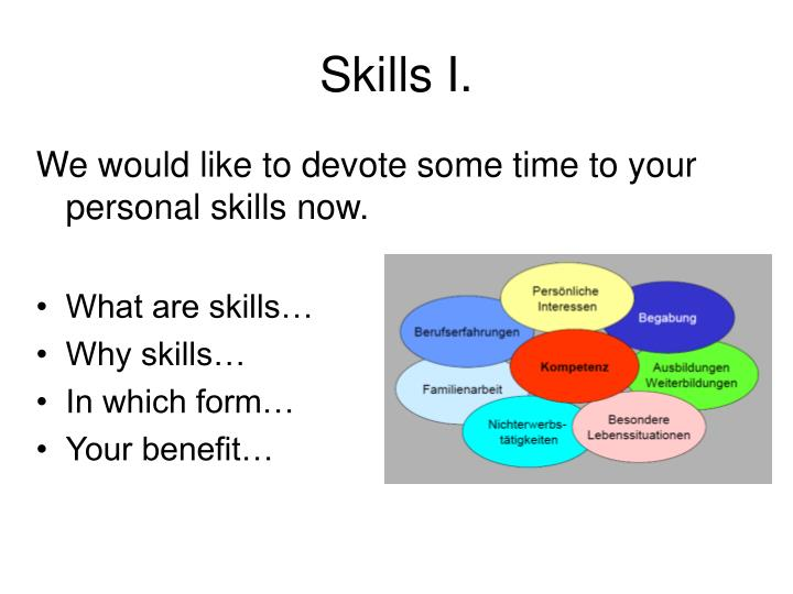 Skills I.