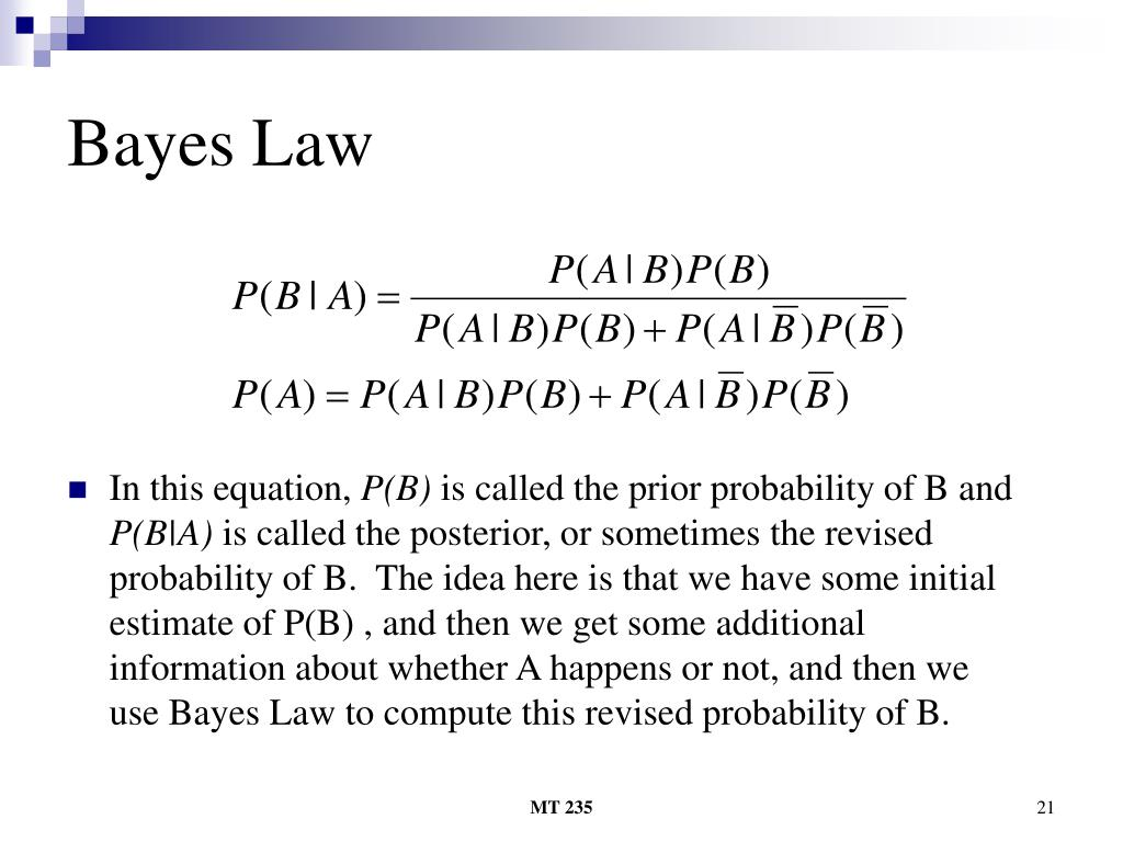 Bayes Law