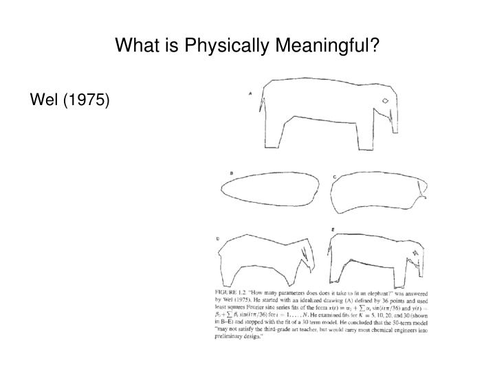 What is Physically Meaningful?