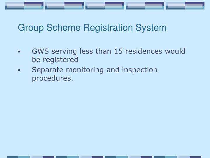 Group Scheme Registration System