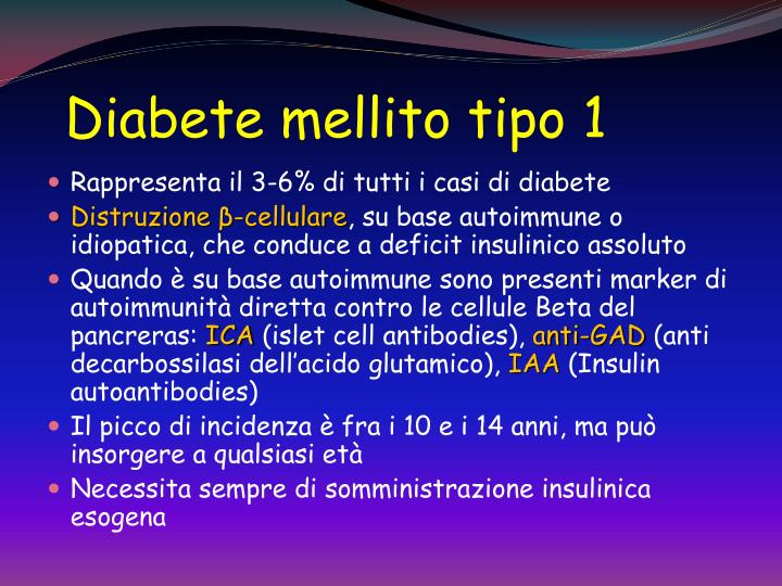 diabete tipo 1 conseguenze