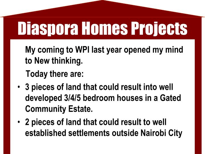 Diaspora Homes Projects