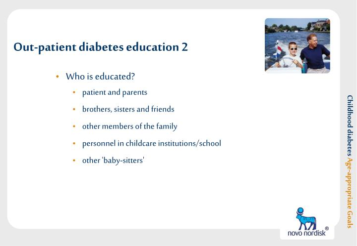 Out-patient diabetes education 2