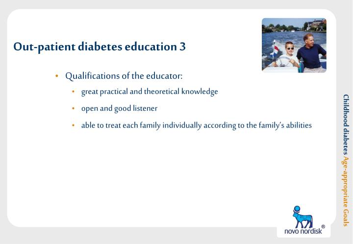 Out-patient diabetes education 3
