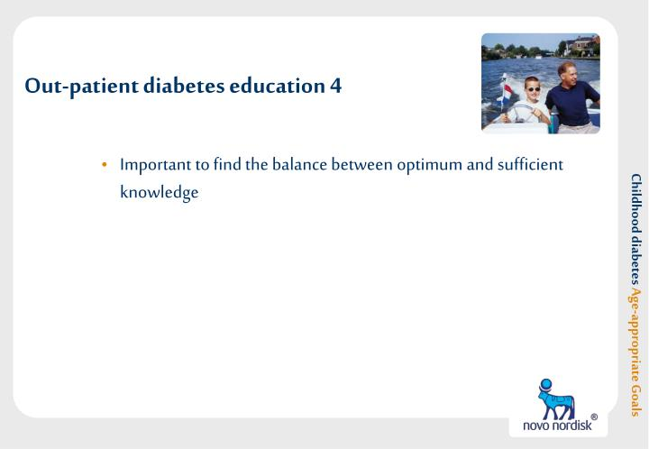 Out-patient diabetes education 4