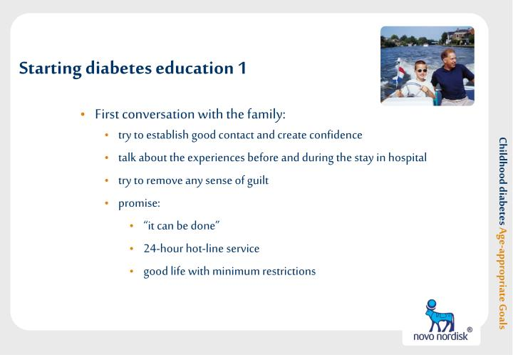 Starting diabetes education 1