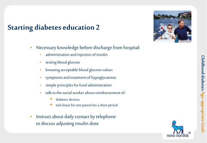 Starting diabetes education 2