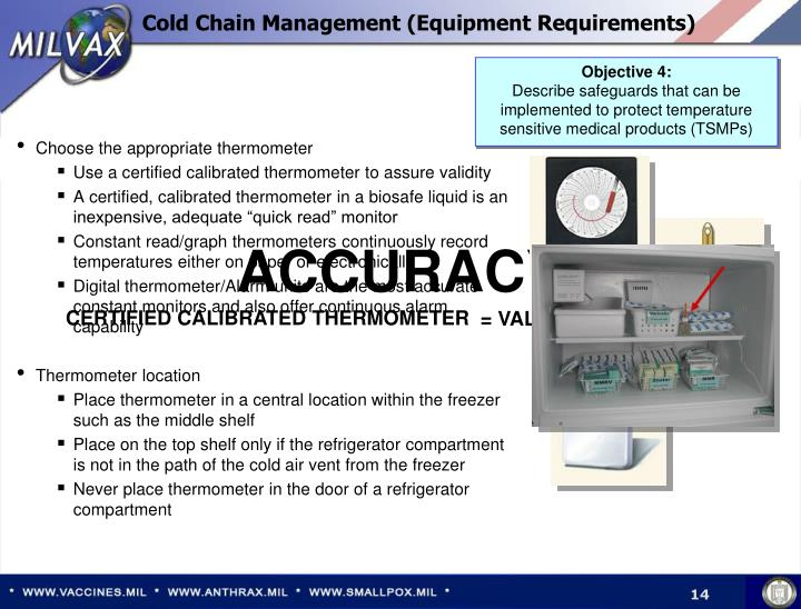 Cold Chain Management (Equipment Requirements)