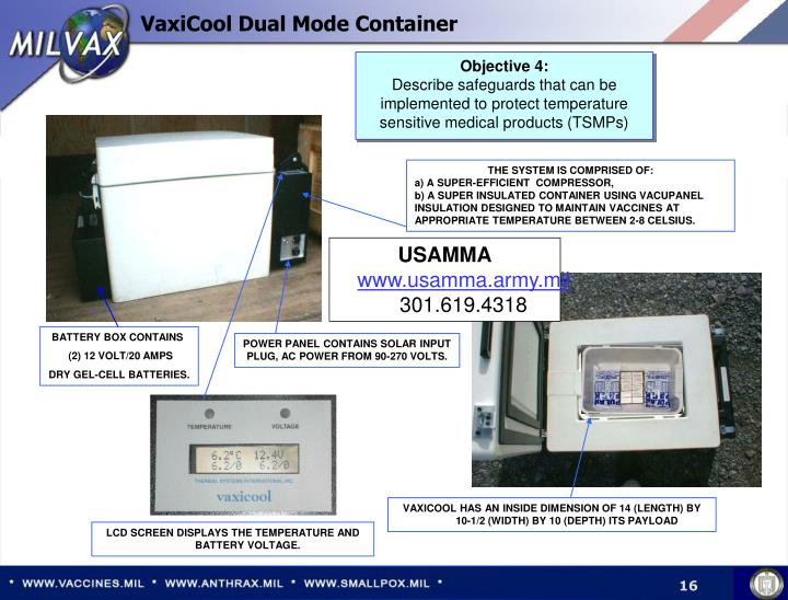 VaxiCool Dual Mode Container