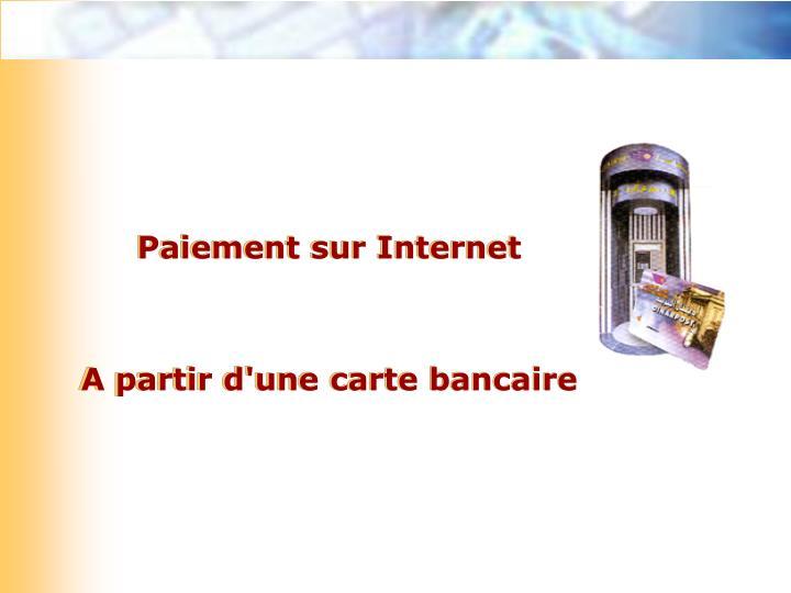 Paiement sur Internet