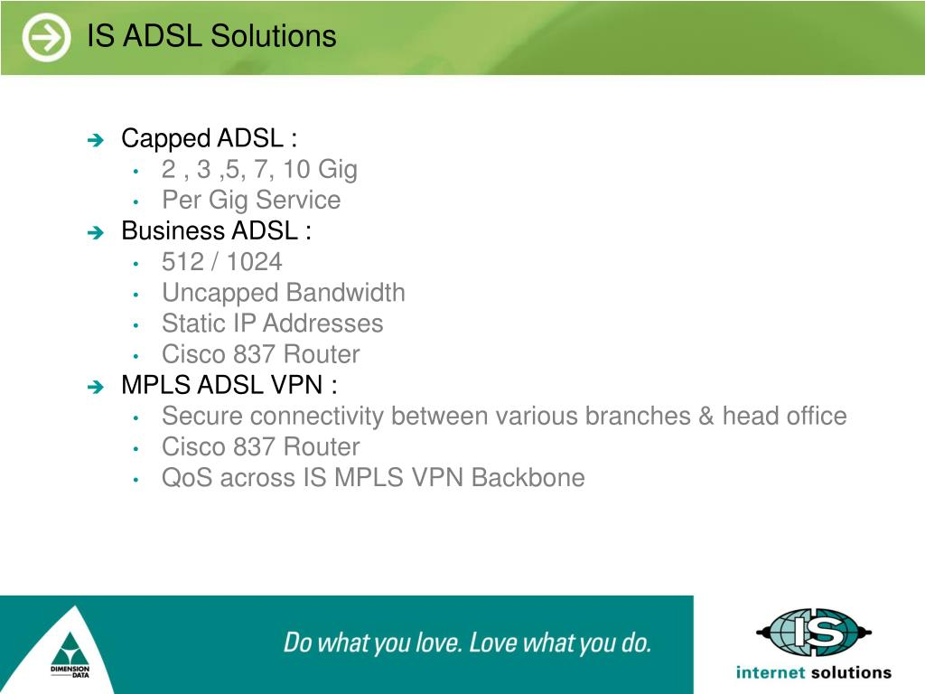 IS ADSL Solutions