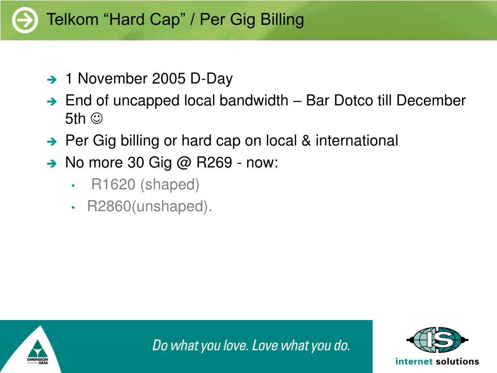 """Telkom """"Hard Cap"""" / Per Gig Billing"""