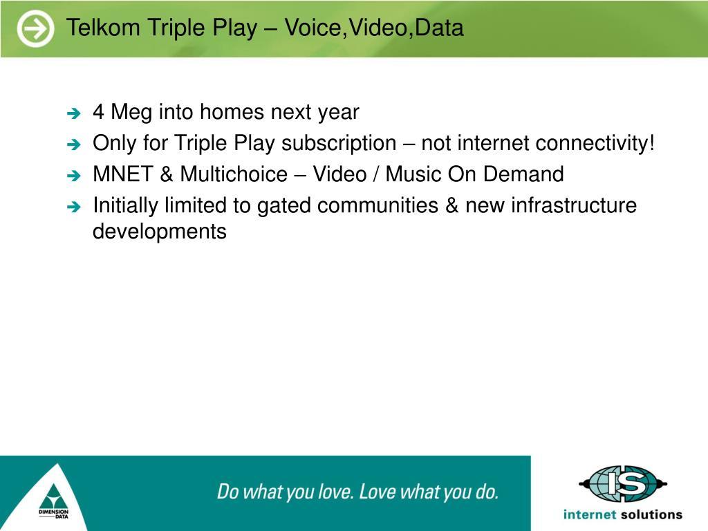 Telkom Triple Play – Voice,Video,Data