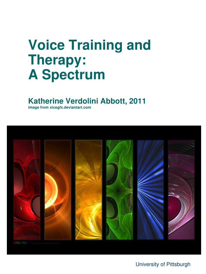 Voice Training and Therapy: