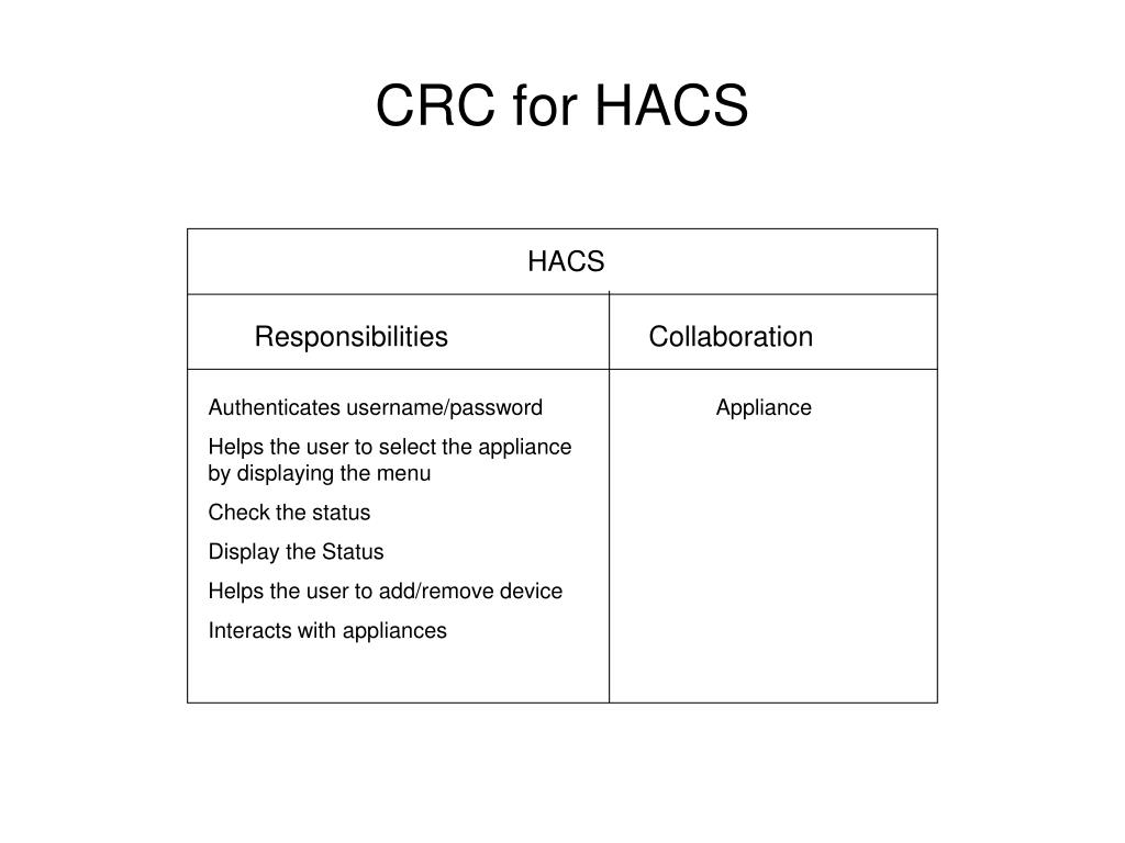 CRC for HACS