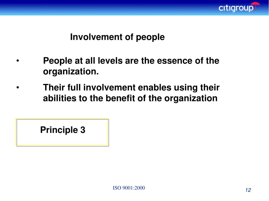 Involvement of people