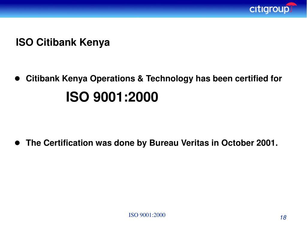 ISO Citibank Kenya