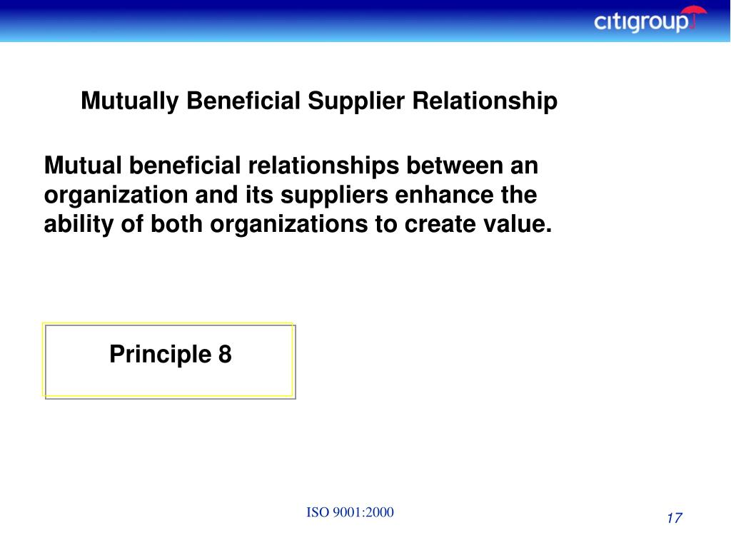 Mutually Beneficial Supplier Relationship