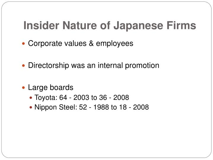 Insider Nature of Japanese Firms
