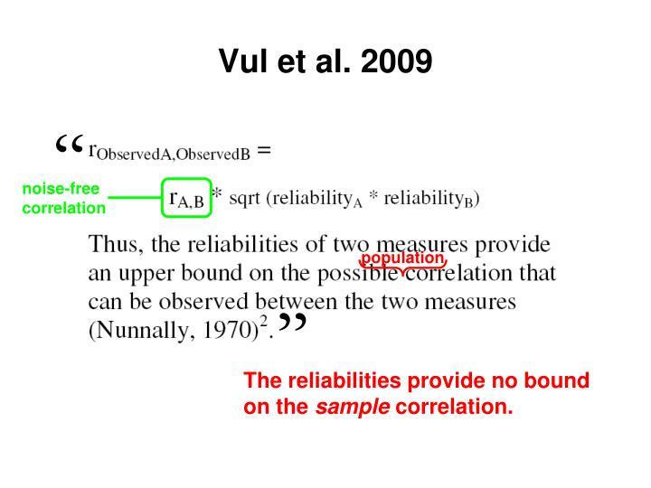 Vul et al. 2009