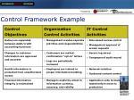 control framework example