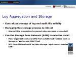 log aggregation and storage