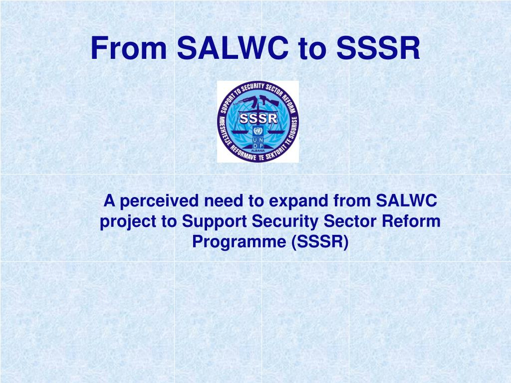 From SALWC to SSSR