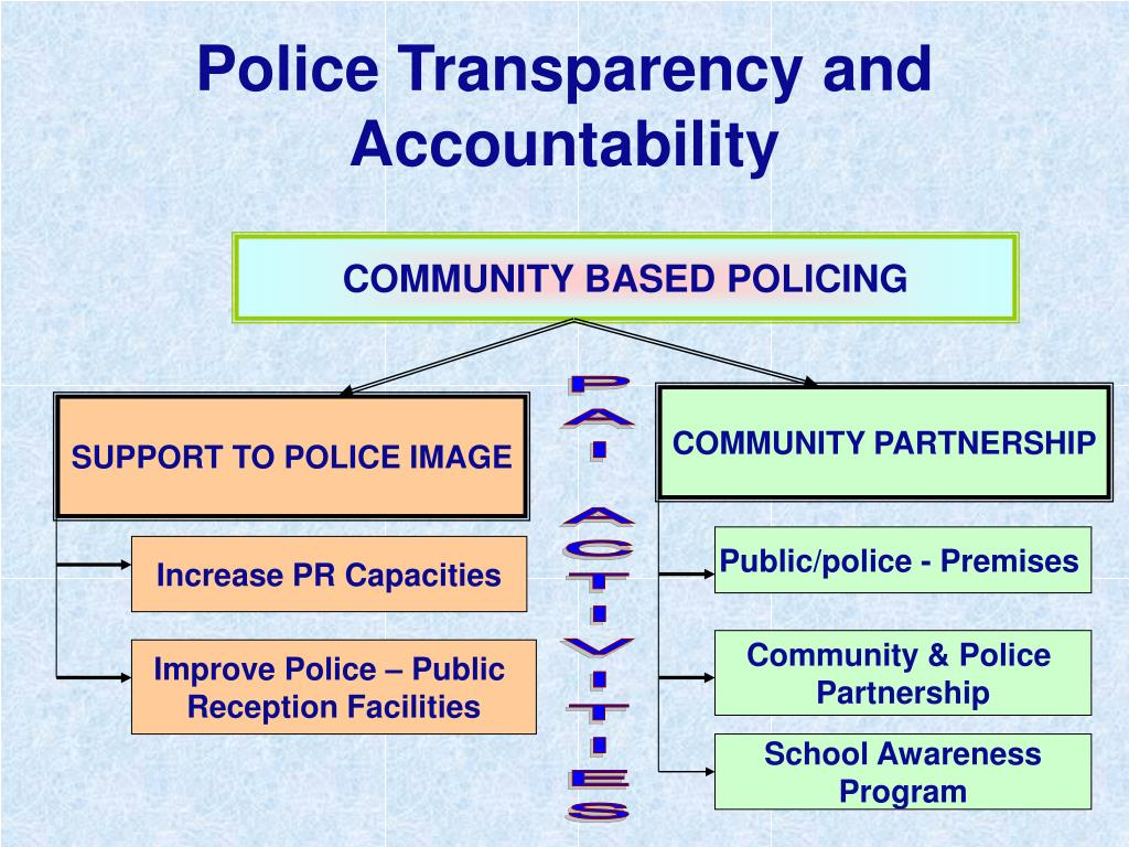 Police Transparency and Accountability