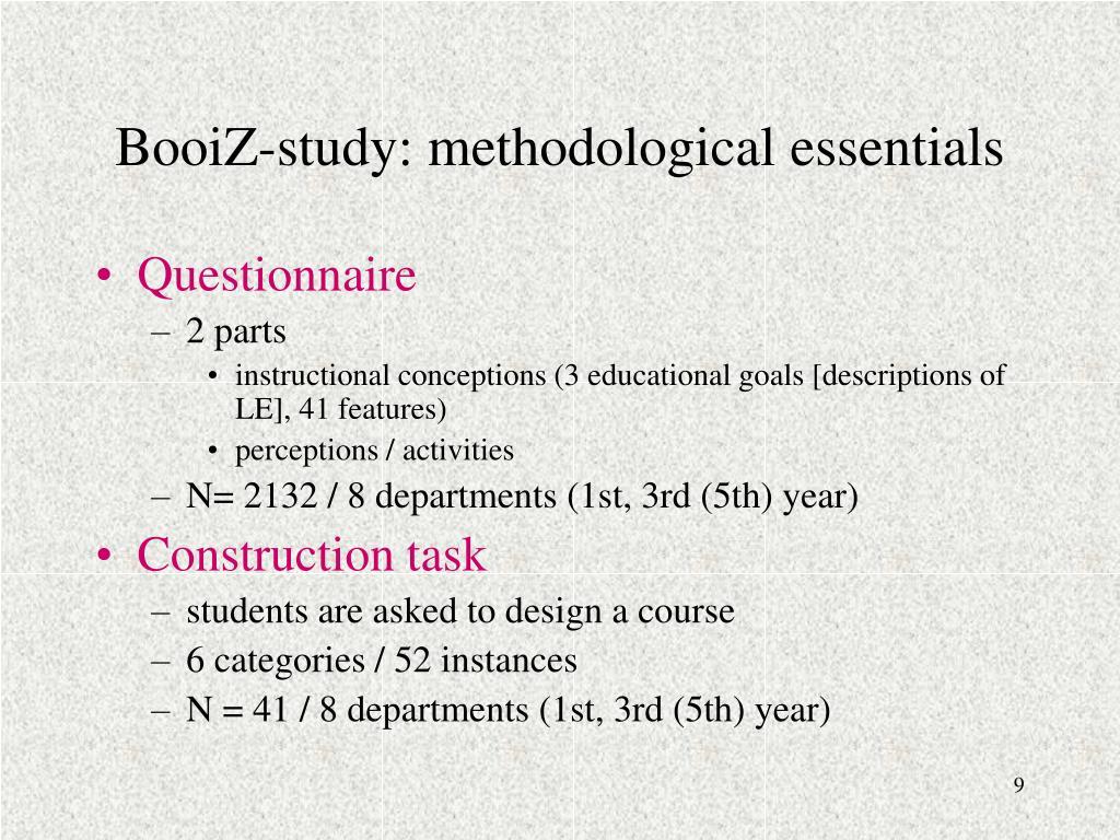 BooiZ-study: methodological essentials