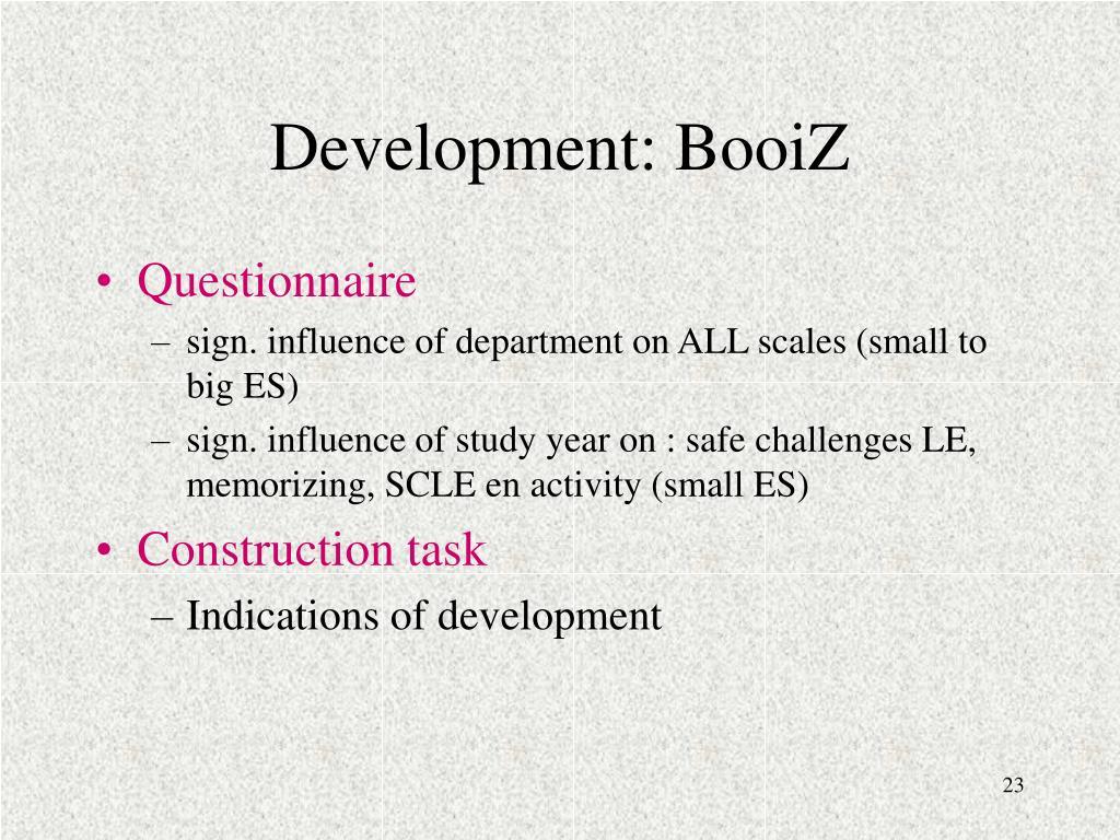 Development: BooiZ