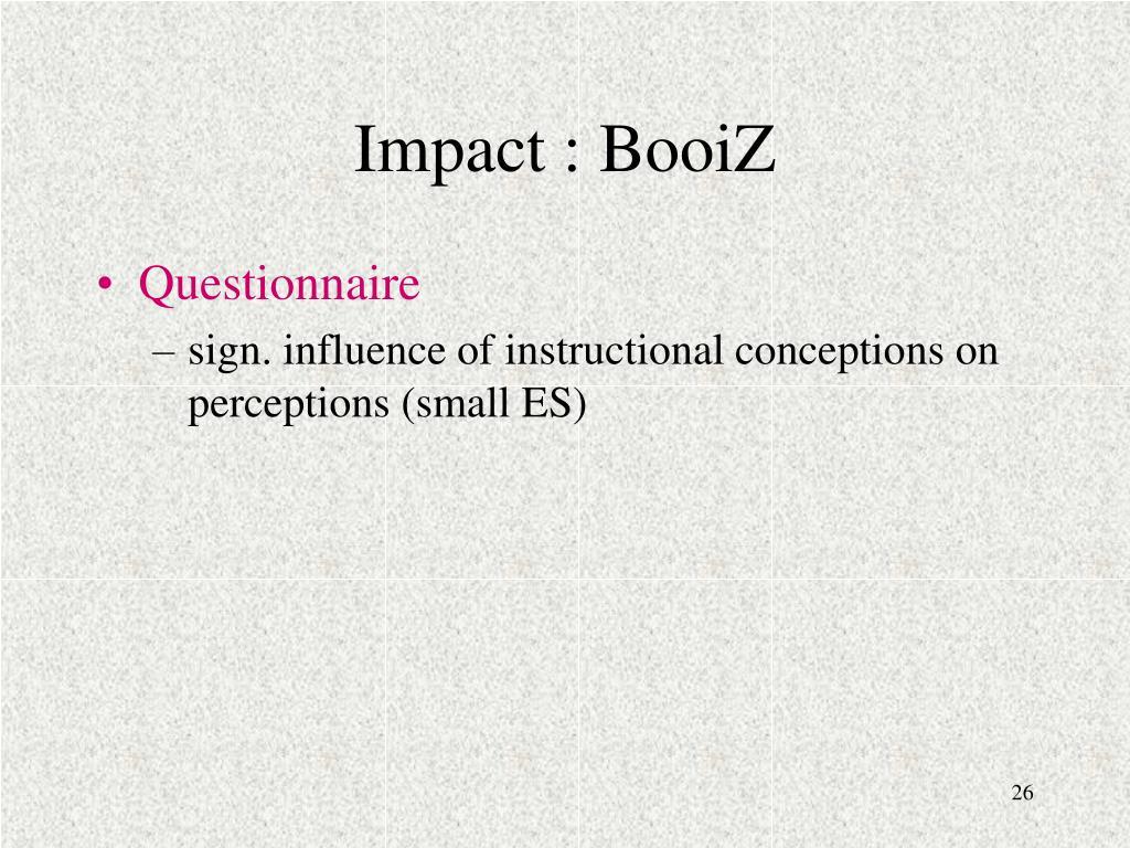 Impact : BooiZ