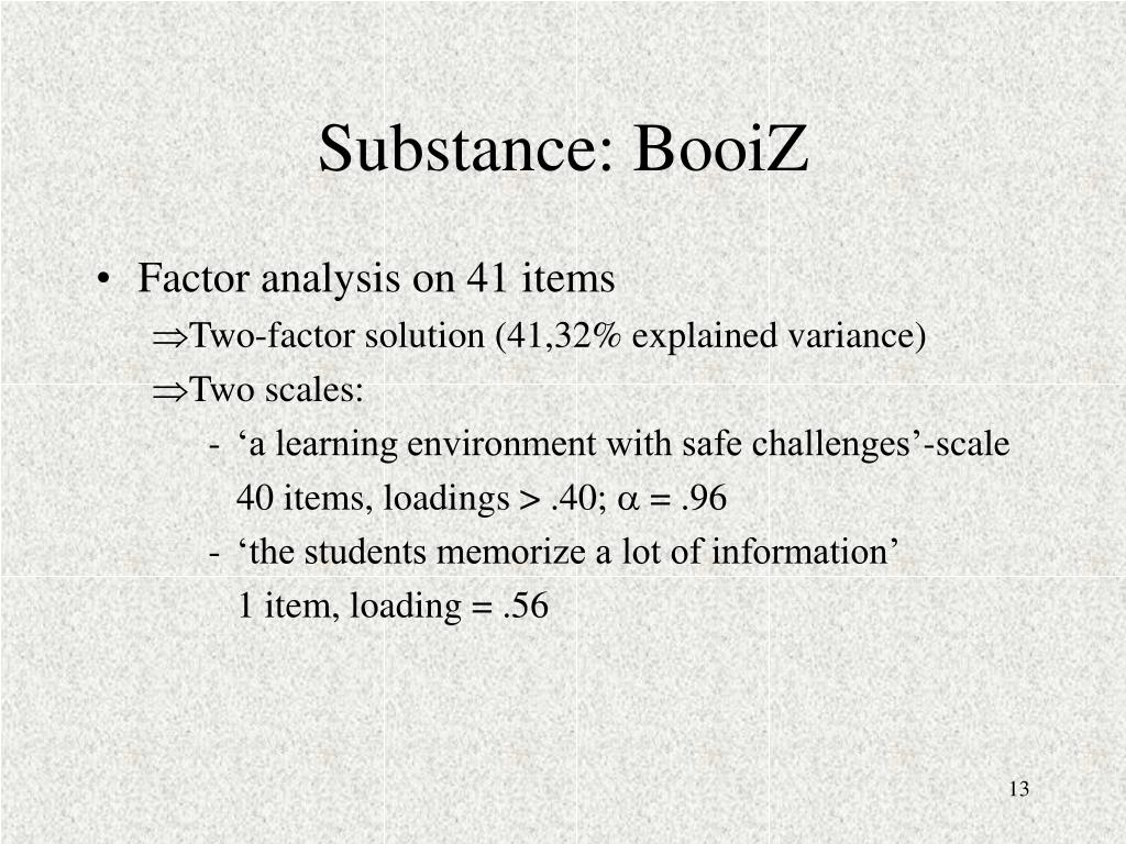 Substance: BooiZ