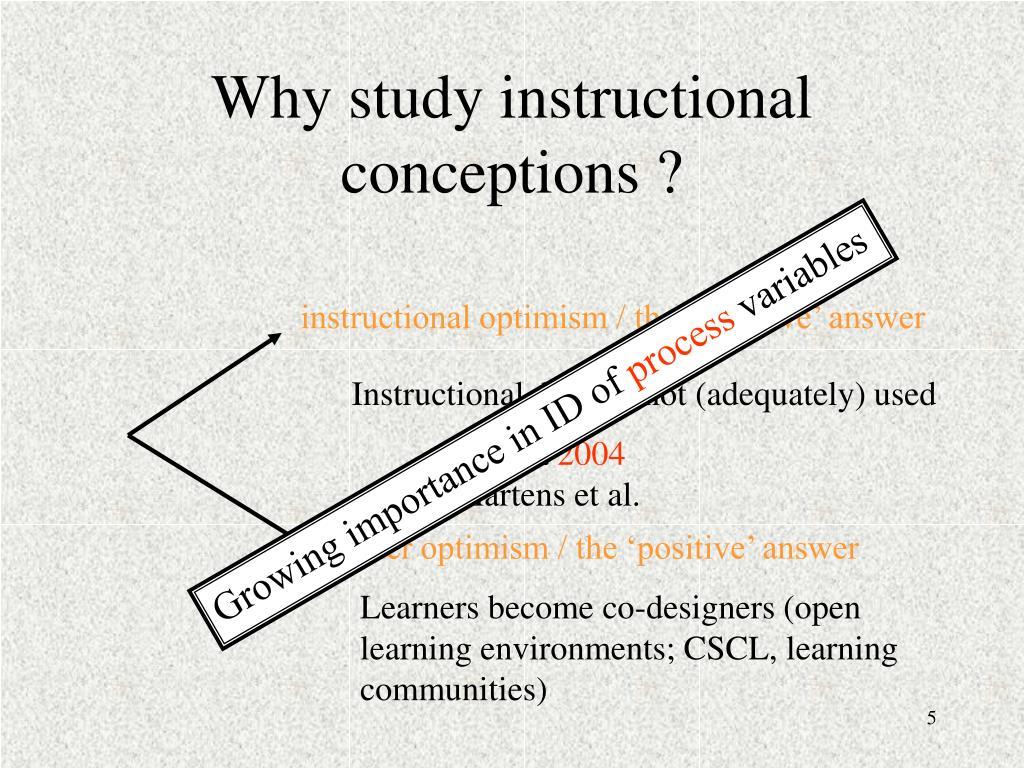 instructional optimism / the 'negative' answer
