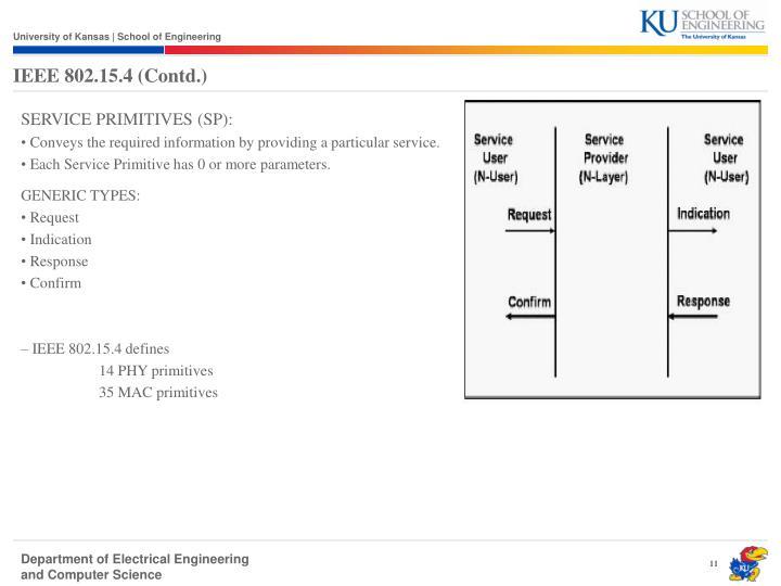 IEEE 802.15.4 (Contd.)