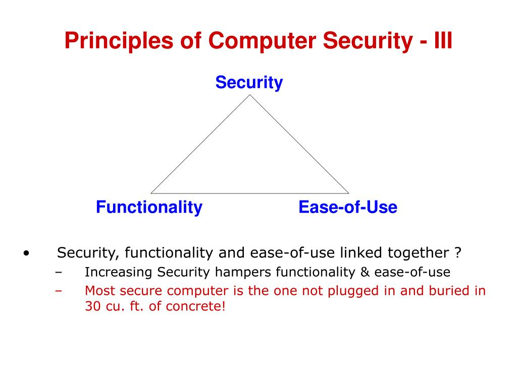 Principles of Computer Security - III