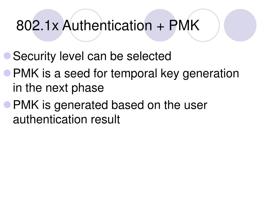 Security level can be selected