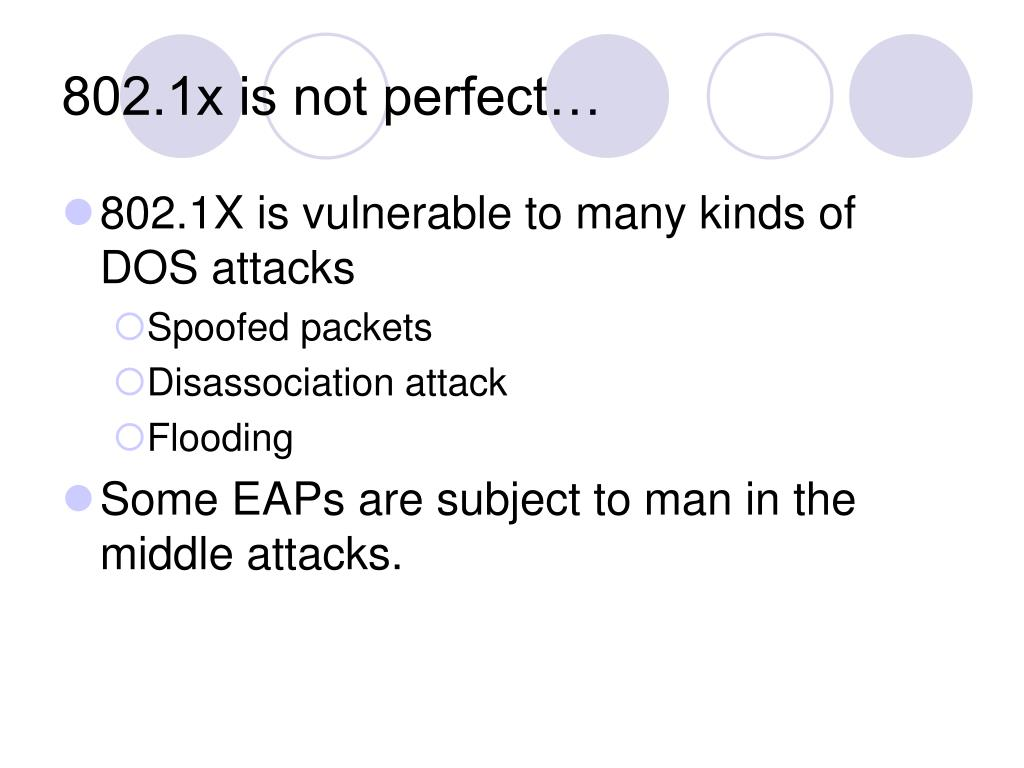 802.1x is not perfect…