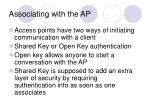 associating with the ap