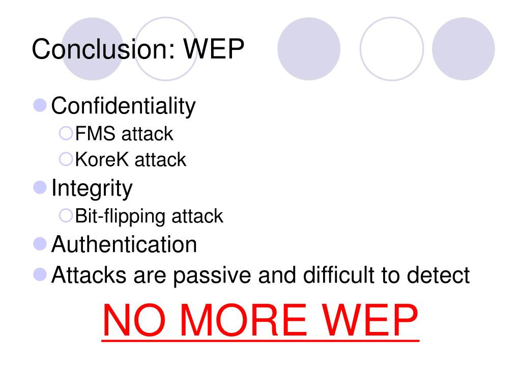 Conclusion: WEP