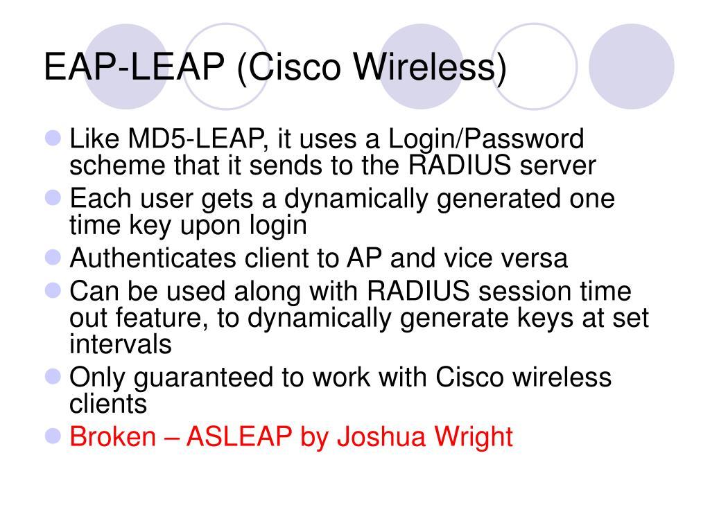 EAP-LEAP (Cisco Wireless)