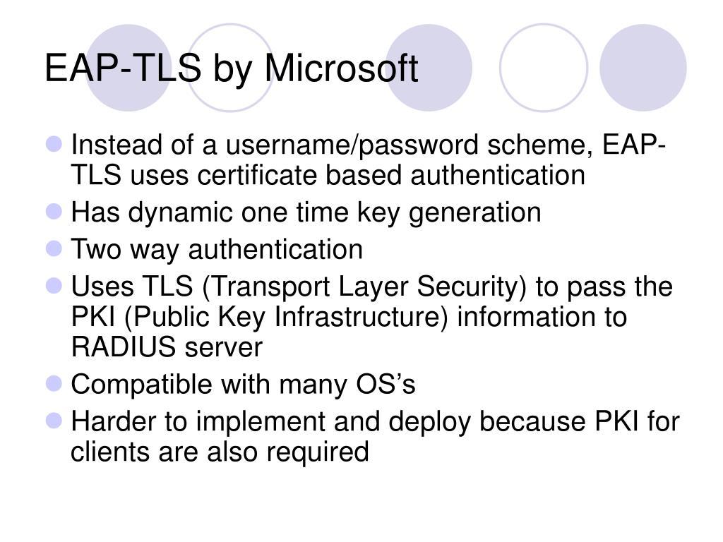 EAP-TLS by Microsoft