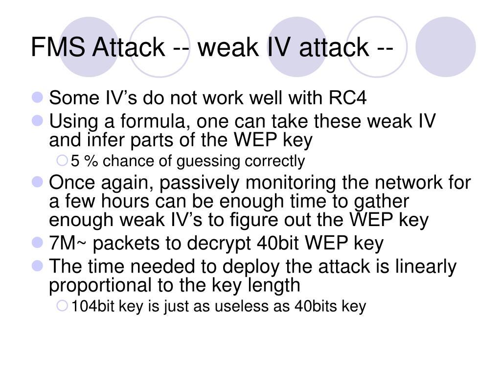 FMS Attack -- weak IV attack --