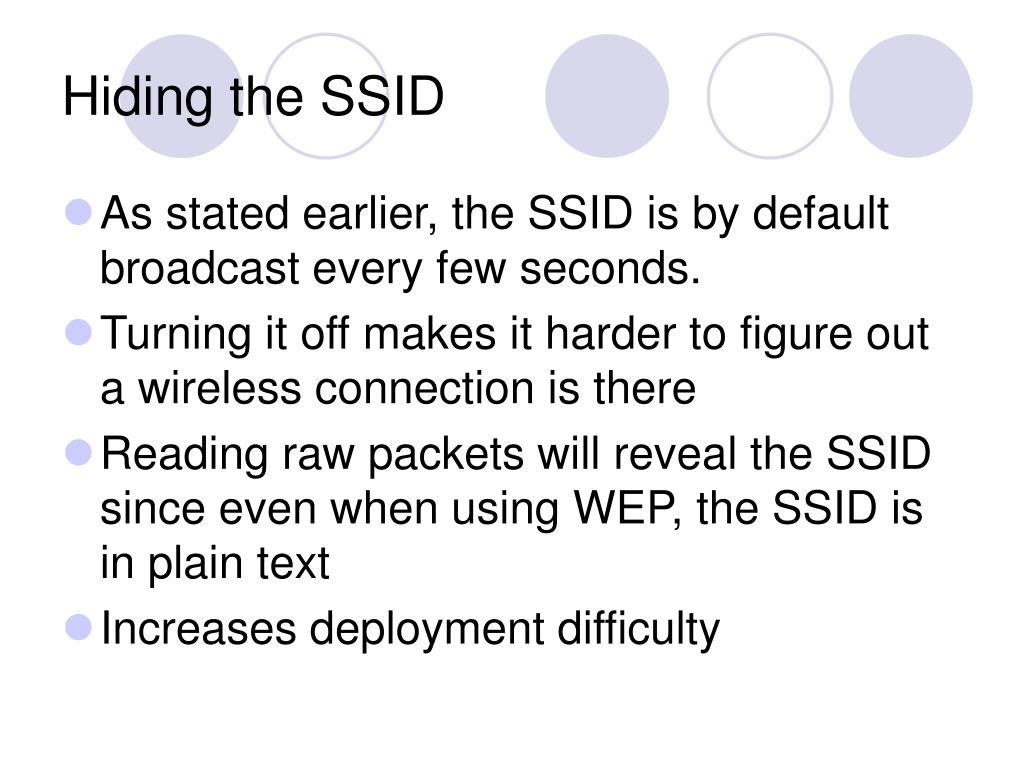 Hiding the SSID