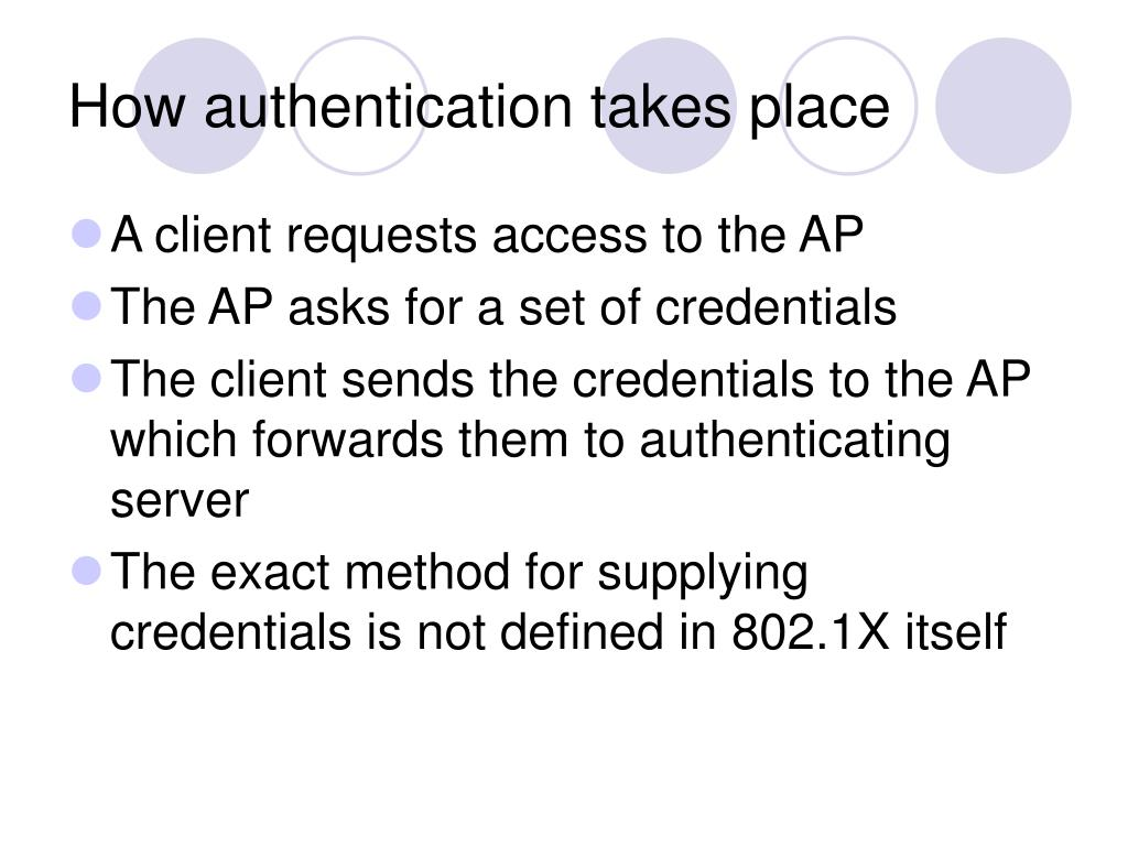 How authentication takes place