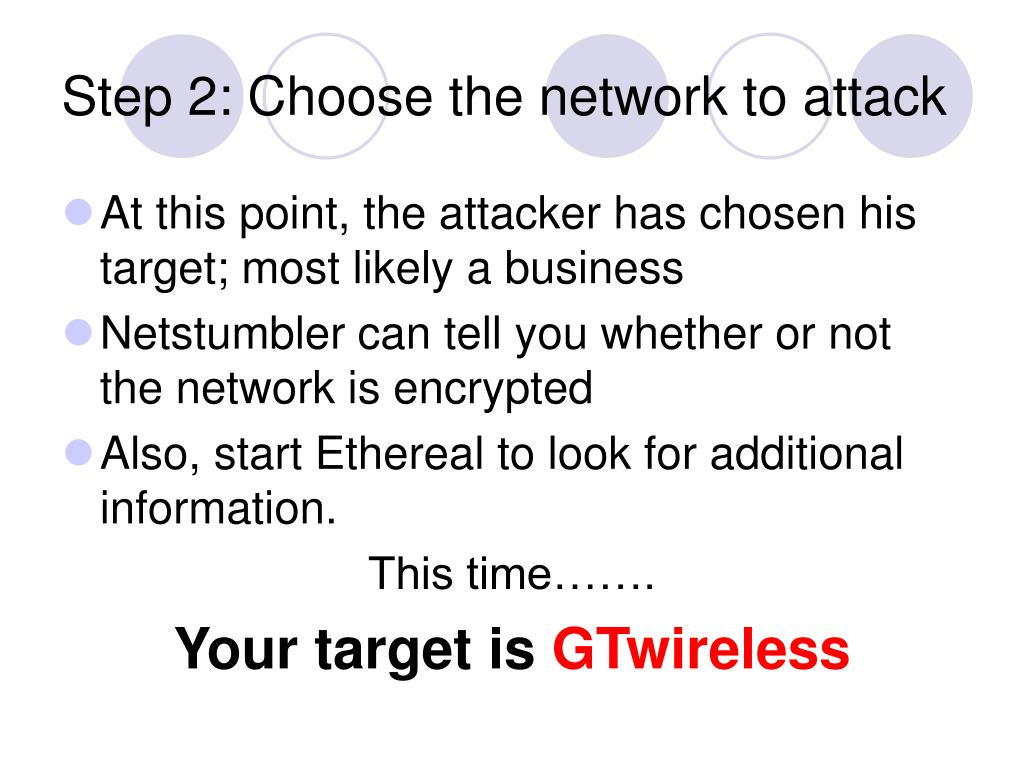 Step 2: Choose the network to attack