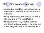 step1 find networks to attack