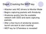 step4 cracking the wep key