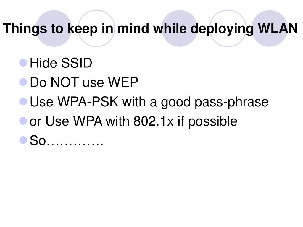 Things to keep in mind while deploying WLAN